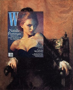 Magazine cover and classical painting - Portrait of Natalie Portman. Natalie Portman, W Magazine May 2005 + Portrait of Frances Sherborne Ridley Watts by John Singer Sargent