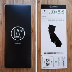 Boarding Pass #california #boarding pass #trade show #launch la #wedge lever