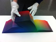 Tauba Auerbach's RGB Colorspace Atlas Depicts Every Color Imaginable | Type for you. #print #gradient #neon