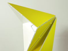 Origami Folding Lamp by Mirco Kirsch #metal #lamp #folding #origami