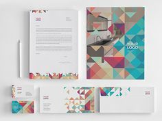 Minimal Colorful Stationery  You can download it here: http://graphicriver.net/item/minimal-colorful-stationery/8020240?ref=abradesign #stat