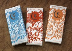 Moonstruck Chocolate Single Origin Chocolate | Kate Forrester #packaging #typography