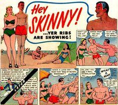 HEY SKINNY! #book #comic #illustration #vintage #ad