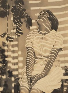 All sizes | Pergola Pattern, Cazneaux's daughter, by Harold Cazneaux 1931 | Flickr - Photo Sharing! #harold #pattern #cazneaux #pergola