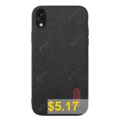 High #Quality #PU #Cloth #Fabric #Anti-Fall #TPU #Case #for #iPhone #XR #- #BLACK