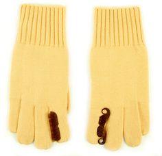 Colette x Gap Moustache Gloves #knit #moustache