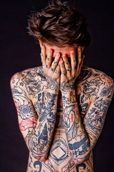 Land Of Cool #blue #tattoo #red