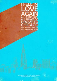 Chicago #poster #layout #chicago #sufjan stevens #afiche