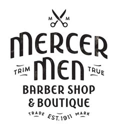 Mercer Men by Simon Walker #type #typo #script #lettering #font #logo #brand #mark
