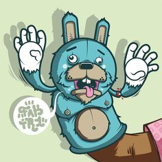 rabbitpuppet3 #vector #design #muppet #rabbit #character