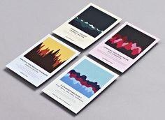 Creative Review Studio Output's soundwave concert postcards #print #wave #sound #studio #output