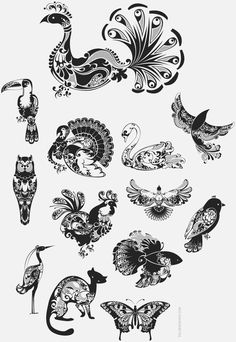 Vector Pictograms on the Behance Network #abstract #ink #henna #birds #art #animals