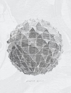 B R O K E N Â B E L L S :Â tour shirt design #jacob escobedo #modern #poly #shape #poster