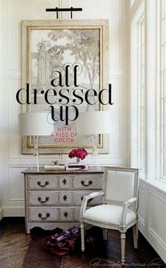 {this is glamorous}: {décor inspiration: a kiss of colour} #interior #design #editorial #typography