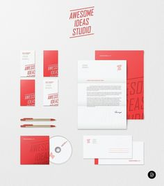 Awesome Ideas Studio - Logos - Creattica #red #retro #identity #vintage #studio #logo #awesome