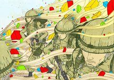 First-Stop » memories #vector #penink #dongyun #lee #illustration #watercolor