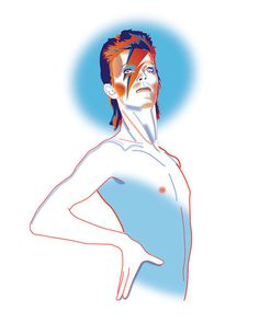 Bowie - Aladdin Sane - Illustration - Joe Murtagh