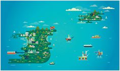 Trinidad and Tobago - Parko Polo #illustration #mapping