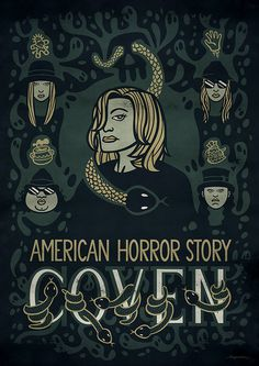 """American Horror Story: Coven"" alternative poster by hugraphic #coven #illustration #vector #graphic"