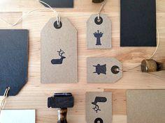 Katy Skelton Hang Tags #stamp #branding #design #icons #hang #tag