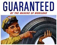 Plan59 :: Vintage Ads :: Mid-Century Modern :: Mobilgas Mobil Tires, 1948 #mobilgas