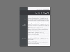 Free Modish Resume Template with Simple Design