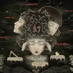 Surreal Paintings by Sonya FunSonya Fu (b. Fu Man-Yi 1982) is a surrealist artist based in Hong Kong. Growing up in the former British Col #arts #illustrations #inspirations