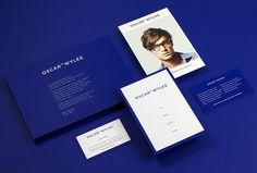 Oscar Wylee by Design by Toko #stationary #graphic design #blue #print