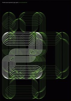 Print-Process #six #black #linear #typeface #poster #three #green