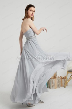 eDressit Grey Corset Beads Waistbelt Elegant Ball Party Dress (00202008)
