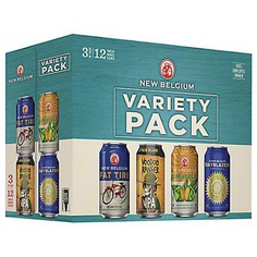 New Belgium Folly Variety Pack Beer 12 PK Cans,12 OZ