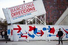 Ajuntament de Barcelona / Barcelona Direccions Exhibition / Signage #signage #way #sign #finding