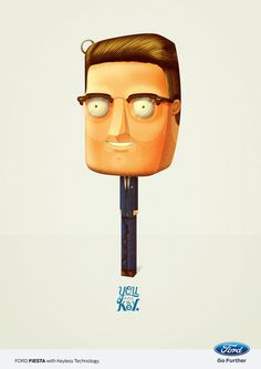 You are the Key. For FORD GREECE #bakea #ford #design #advertising #illustration #key #character