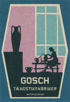 Danish matchbox label | Flickr - Photo Sharing! #matchbox #label