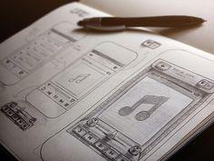Radio App Sketch #wireframe #scribble