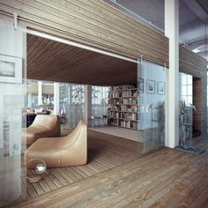 Industrial Loft #interior #loft #timber #interiors #industrial