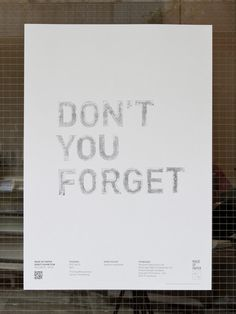 baseline workshop / don't you forget poster #graphics #prints