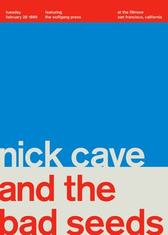 nick cave #minimalism #poster #music #concert #typography