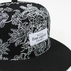 Float captain fine print hat #pattern #surf #floral #hats #fashion