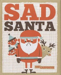 Sad Santa #christmas #illustration #child #book