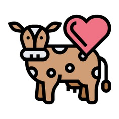 See more icon inspiration related to cow, milk, animal, farm, cattle, farming and gardening, animal kingdom, mammal, farming, save and animals on Flaticon.