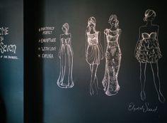 Chalk fashion sketches, Sarah Seven | Rue #chalk #illustration #seven #fashion #sarah #sketch