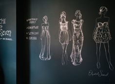 Chalk fashion sketches, Sarah Seven | Rue