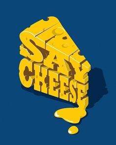 Say Cheese on the Behance Network #lettering #typograph #cheese