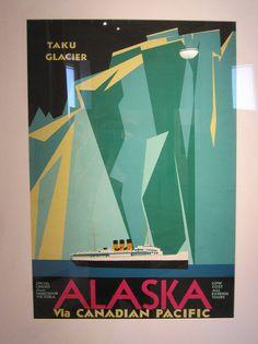 photo #alaska #vintage #poster