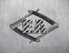 Barber street #navaja #barber #illustration #type #knife #typography