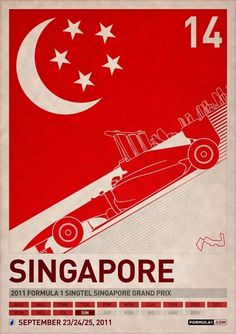 Store | PJTierney.net — 2011 Formula 1 Singapore Grand Prix Poster #car #poster #racing #singapore #race