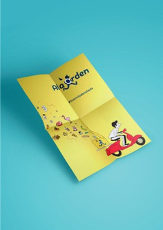 Diseño de cartel impreso - A la orden, tu envio de volada - Grafista