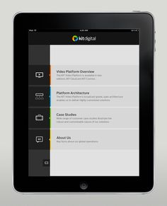 kit digital iPad app on the Behance Network