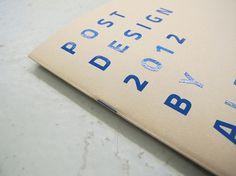 Post Design 2012 on the Behance Network #post #blu #catalog #print #design #graphic #studio #biagetti
